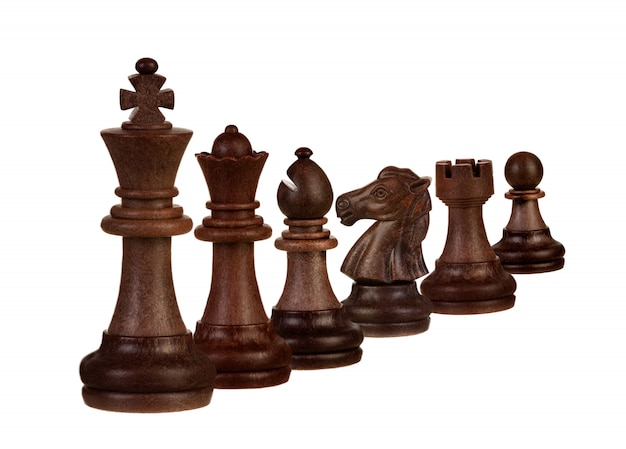Chessmen isolated on white Premium Photo