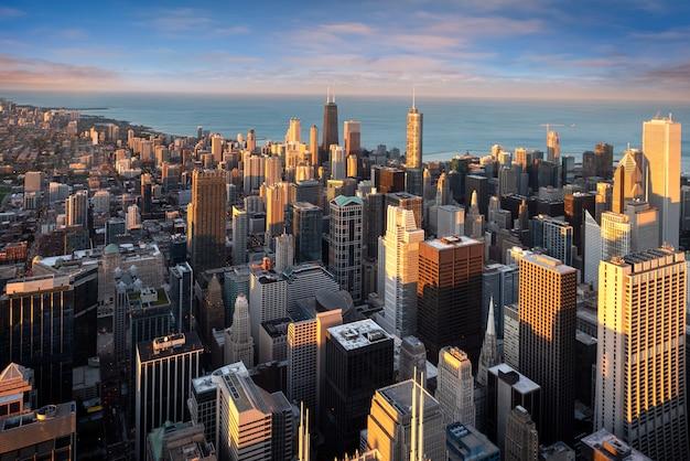 アメリカのシカゴの街並み Premium写真