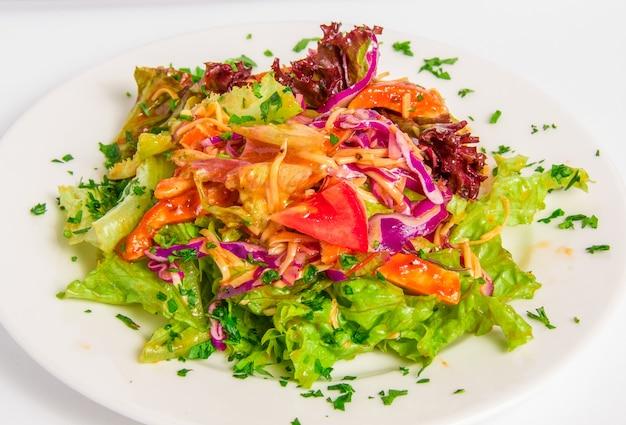 Chicken salad top view Free Photo