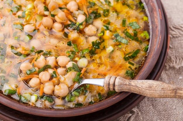 Chickpea soup Premium Photo