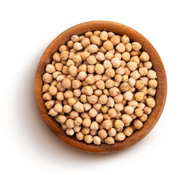 Chickpeas isolated with clipping path Premium Photo