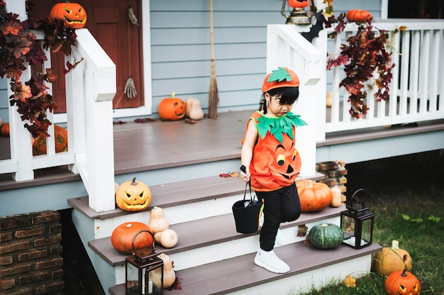 Child in a halloween costume Free Photo