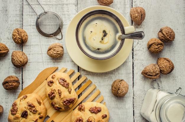 A child makes a cookie. selective focus. Premium Photo