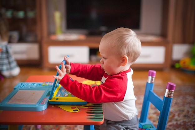 Child playing at home Free Photo