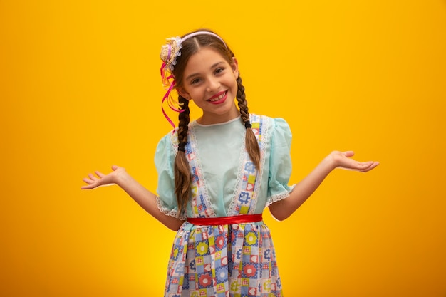 Child in typical clothes of famous brazilian party called