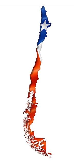 Карта чилийского флага Premium Фотографии