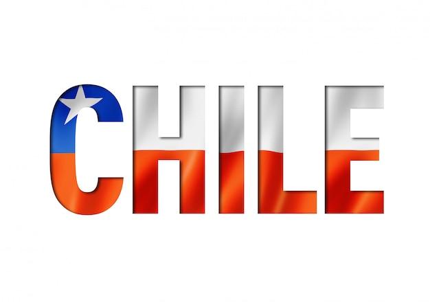 Шрифт чилийский флаг Premium Фотографии