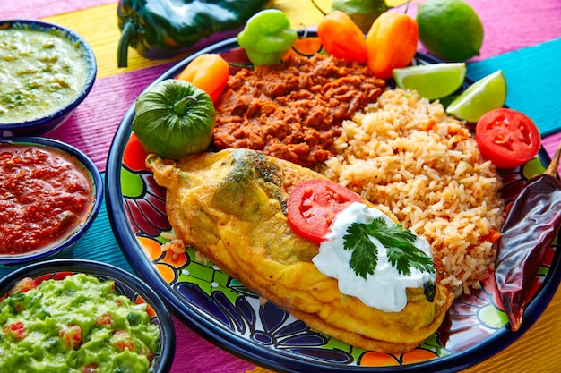 Chili relleno chili peppers filled with cheese Premium Photo
