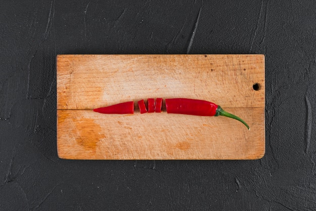 Chili on wooden board Free Photo