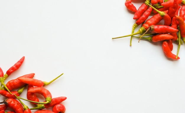 Chilli on white background with copy space Premium Photo