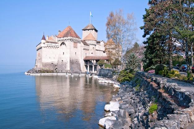 Chillon castle switzerland Premium Photo