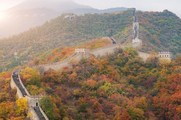 China the great wall near beijing, china. Premium Photo