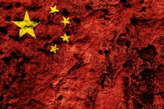China grunge flag  grime Free Photo