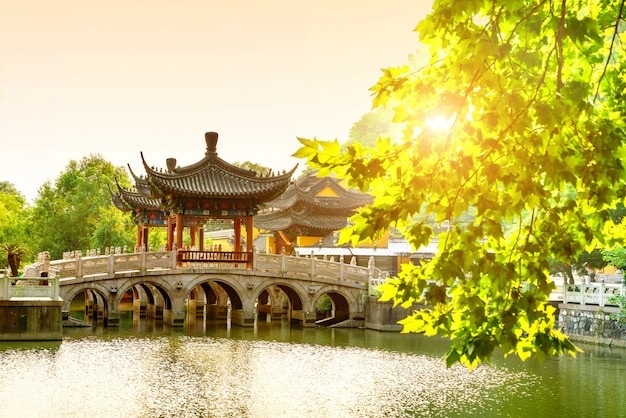 The chinese ancient architecture Premium Photo