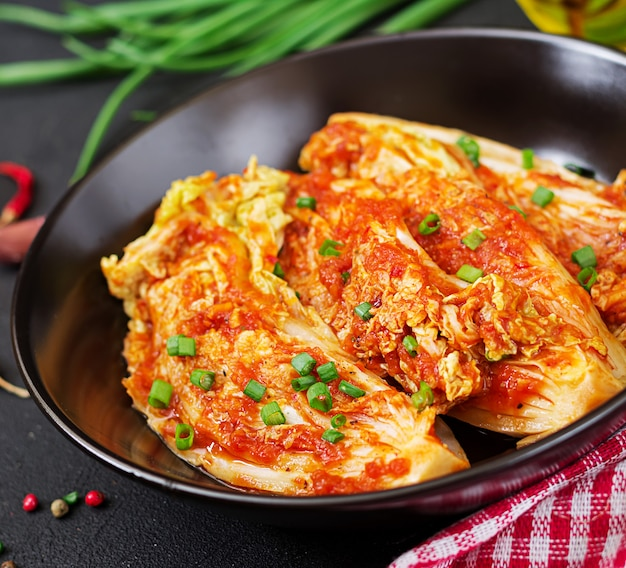 Chinese cabbage. kimchi cabbage. korean traditional food Free Photo