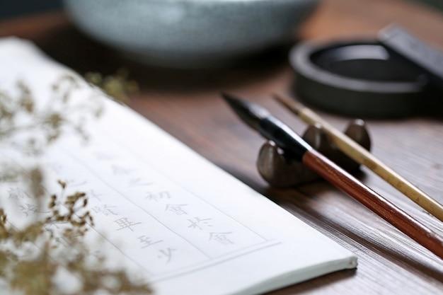 Cinese scena di calligrafia testo: prosa antica cinese Foto Gratuite