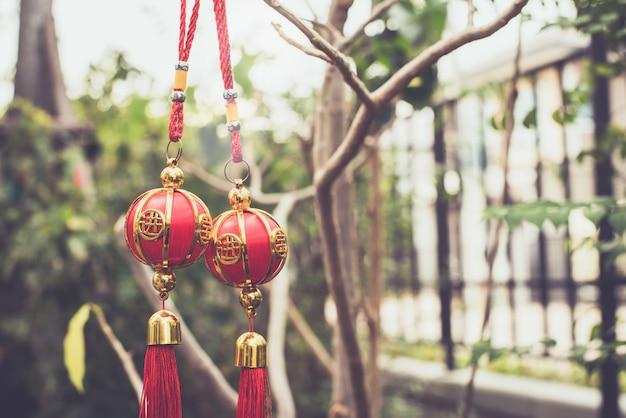 Chinese, decroration in linar new year Premium Photo