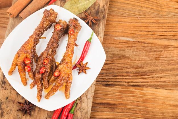 중국식 딤섬 닭발 프리미엄 사진