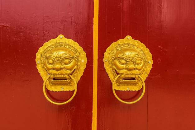 Chinese door handle Premium Photo