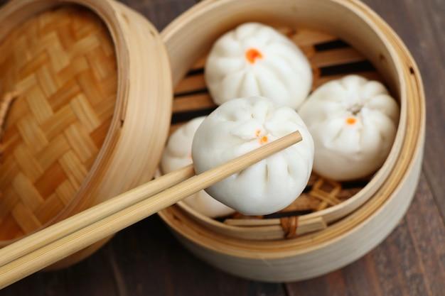 中国の餃子蒸しパン Premium写真