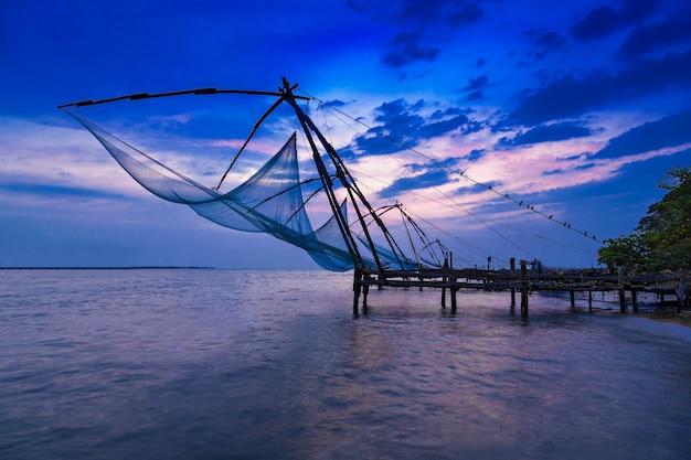 Chinese fishing net Premium Photo