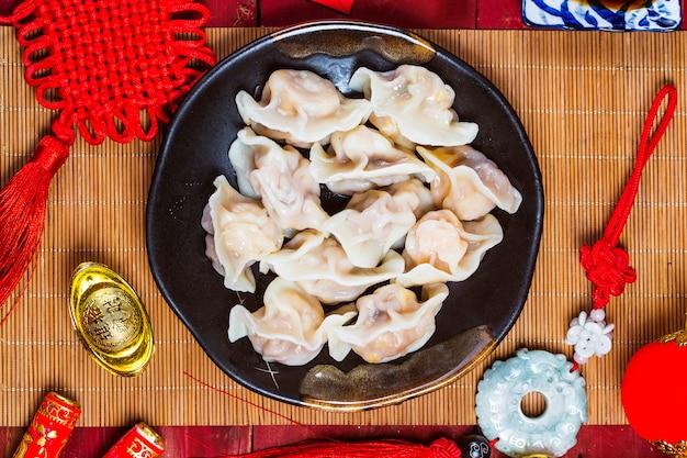 Chinese jiaozi new year food Free Photo