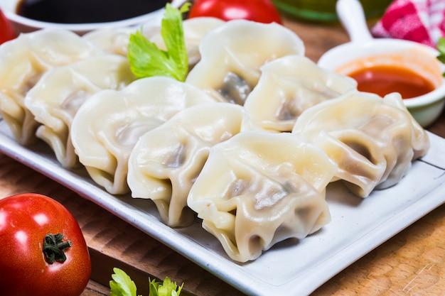 Chinese jiaozi new year food, Free Photo