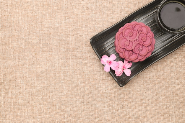 Chinese moon cake Premium Photo
