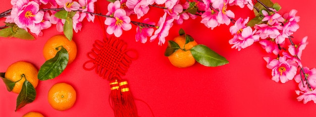 Chinese new year composition Premium Photo