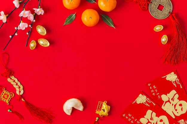 Chinese new year concept with copy space Free Photo