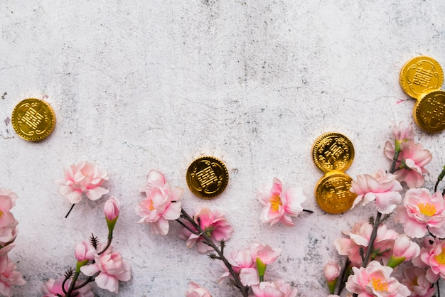 Chinese new year concept with copyspace Free Photo