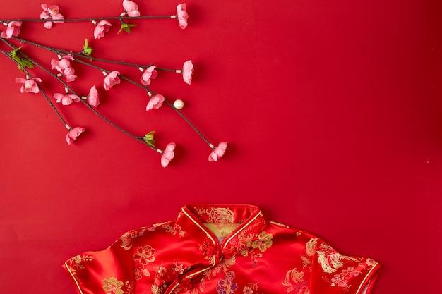 Chinese new year red background. Premium Photo