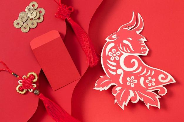 Китайский новый год с концепцией быка Бесплатные Фотографии