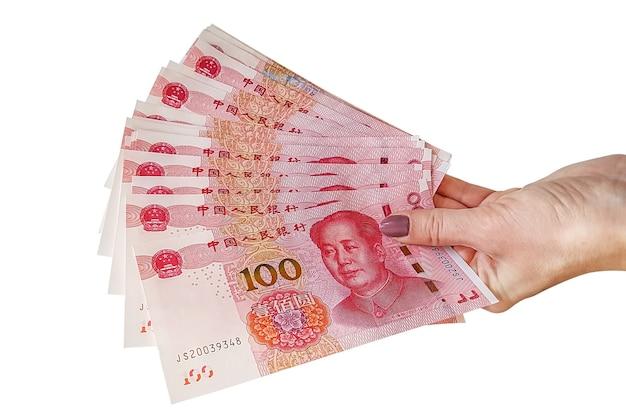 Купюры китайского юаня Premium Фотографии