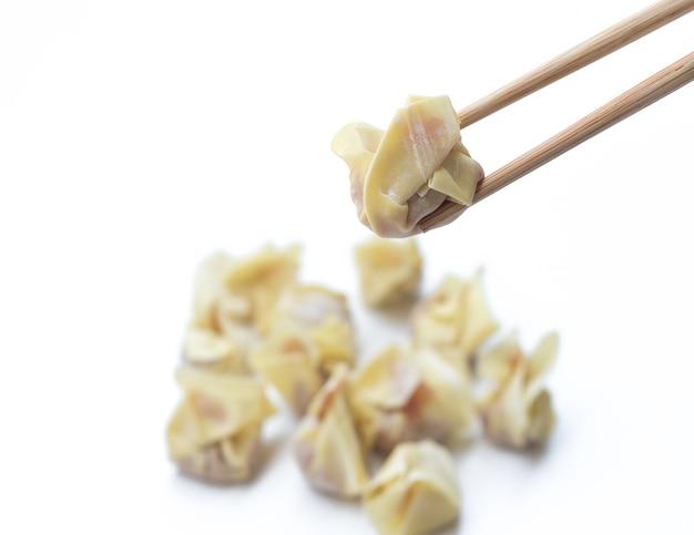 中国の蒸し餃子 Premium写真