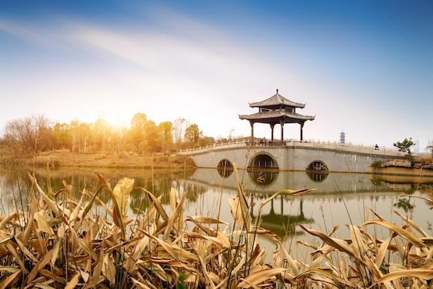 Chinese traditional style bridge Premium Photo