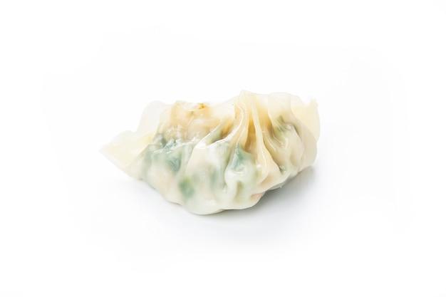 Chinese vegetables dumplings on white Premium Photo