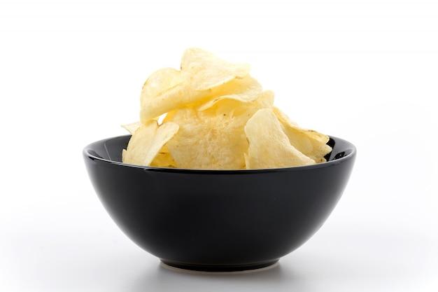 Chip slice yellow prepared junk Free Photo