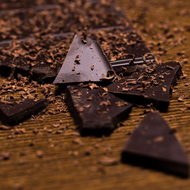Chocolate bar and powder Free Photo