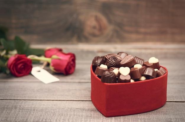 手前のチョコレートボックス 無料写真