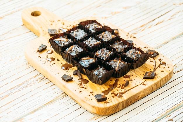 Chocolate brownies cake Free Photo