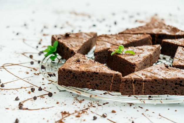Chocolate brownies Free Photo