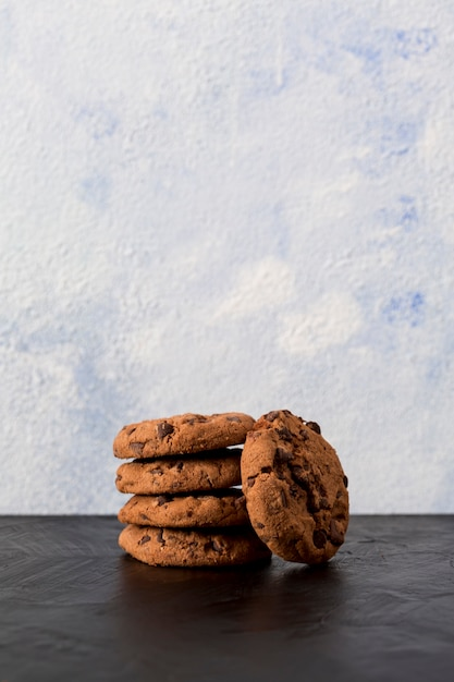 Chocolate cookies with chocolate chips Free Photo