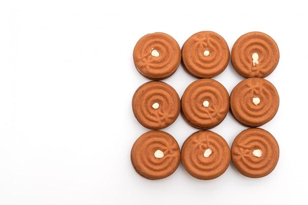 クリームとチョコレートクッキー Premium写真