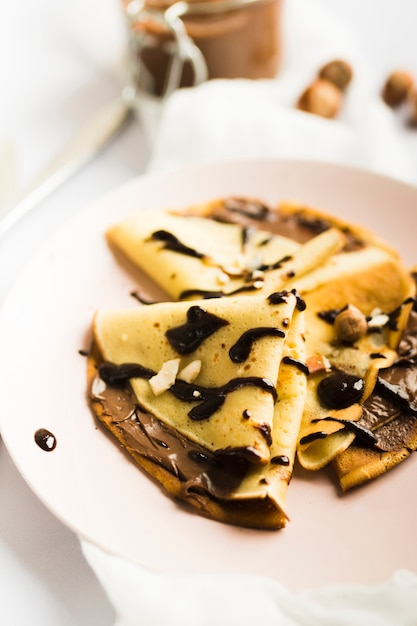 Chocolate crepe Free Photo