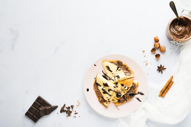 Chocolate crepe Free Photo