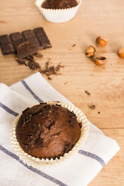 Chocolate muffin Free Photo