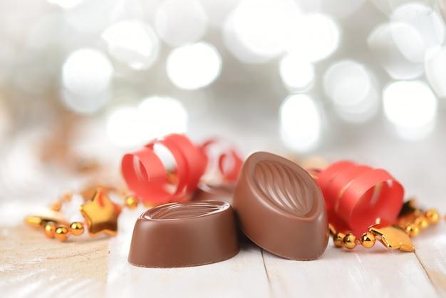Chocolate pralines Premium Photo