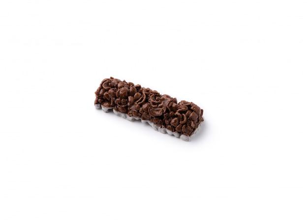 Chocolate stick on isolated white Premium Photo