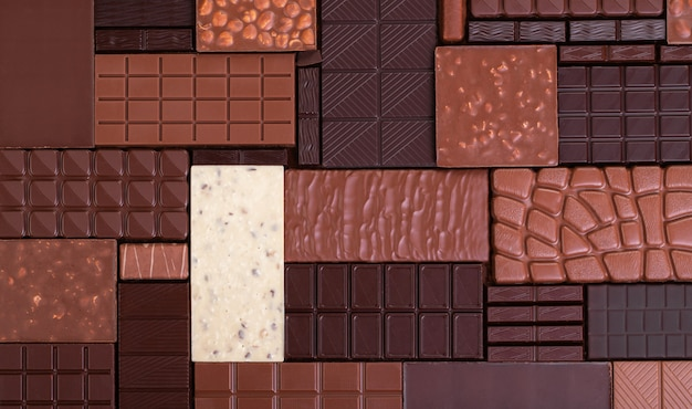 Chocolate surface Premium Photo